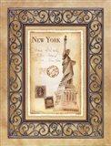New York Postcard Art Print
