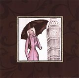 London in Pink Art Print