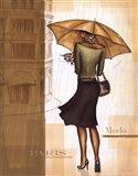 Golden Rain Paris Art Print