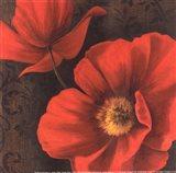 Rouge Poppies II - petite Art Print