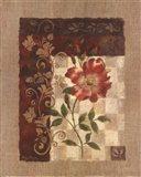 Burlap Climbing Rose Art Print