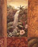 Tropical Waterfall II Art Print
