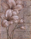 Lilies on Silver I Art Print