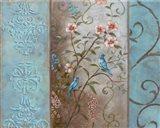 Elegance en Soie Bleue I Art Print
