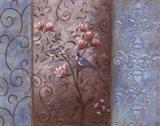 Elegance en Soie Bleue II Art Print