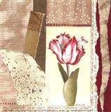 Parrot Tulip Montage II Art Print