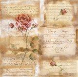 Rose Concerto I Art Print