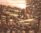 Evening in Tuscany I Art Print