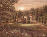 Evening in Tuscany II Art Print