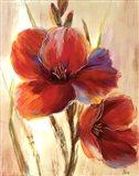 Flourescent Blooms I Art Print