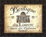 Boutique de Louvre Art Print