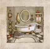 Garden Bath I Art Print