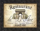 Restaurant de l'Arc Art Print