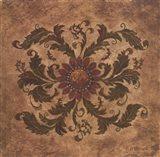 Golden Scroll II Art Print