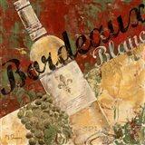 Bordeaux Blanc Art Print