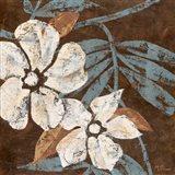 Flowers on Chocolate I Art Print