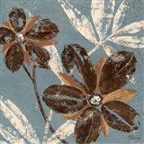 Flowers on Denim III Art Print