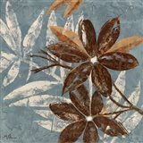 Flowers on Denim IV Art Print