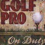 Golf Pro Art Print