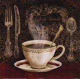 Cafe du Marche Art Print