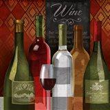 The Wine List I Art Print