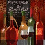The Wine List II Art Print