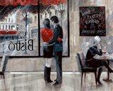 Bistro Romance Art Print