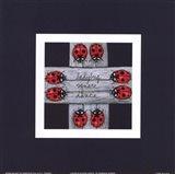 Ladybug Square Dance Art Print
