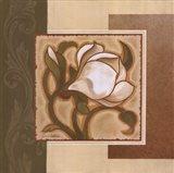 Golden Magnolia I Art Print