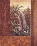Tropical Waterfall I Art Print
