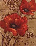 Poppies on Gold I Art Print