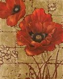 Poppies on Gold II Art Print