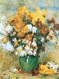 Vase of Chrysanthemums Art Print