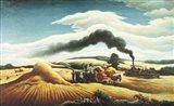 Threshing Wheat Art Print