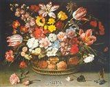 Corbeille de Fleurs Art Print