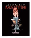 Mermaid Martini Art Print