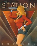 The Station Lounge Art Print