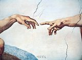 The Hands of God and Man Art Print