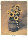Nine Sunflowers Art Print