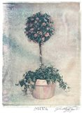 Pink Topiary Art Print
