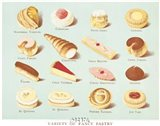Variety of Fancy Pastry Art Print