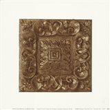 Copper Leaf Rosette Art Print