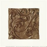 Copper Leaf Frieze Art Print