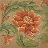 Baroque Flower I Art Print