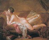 Girl Resting Art Print