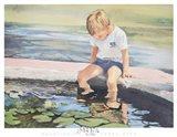 Goldfishing Art Print