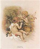 Adoring Cupids Art Print