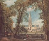 Salisbury Cathedral from the Bishops' Grounds Art Print