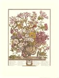 October/Twelve Months of Flowers, 1730 Art Print