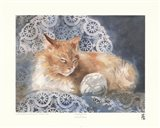 Punkin the Cat Art Print